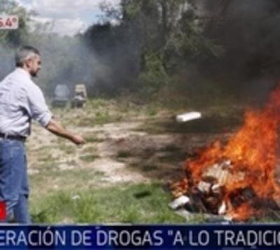 """Quemaron cocaína """"a la antigua"""" ya que nuevo horno no funcionó"""