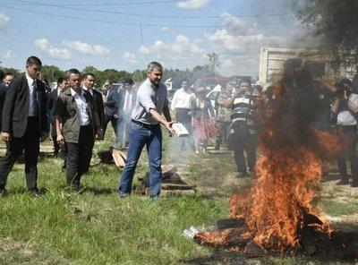 Queman cocaína al aire libre porque horno pirolítico no funciona, dice Giuzzio
