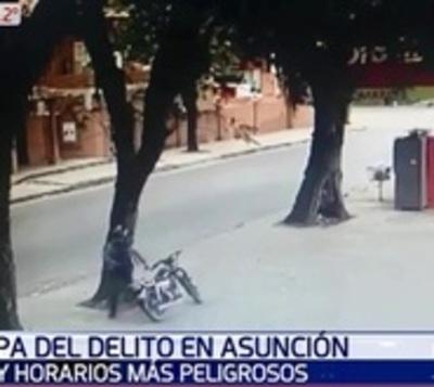 Estos son los lugares y horarios más peligrosos de Asunción