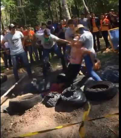 """Violento """"bautismo"""" a estudiantes en Caaguazú"""