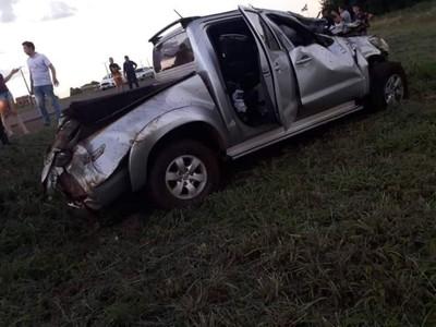 Vuelco de camioneta deja un herido en Naranjito