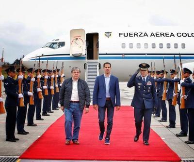 Guaidó llegó a Bogotá para participar de la reunión del Grupo de Lima