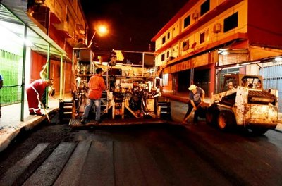 Reparan siete calles en zona del Mercado N° 4