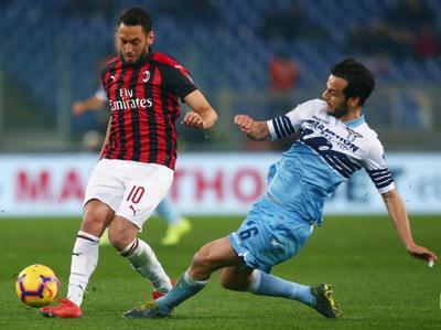 Lazio y Milan igualaron en el primer duelo de la semifinal de la Copa de Italia