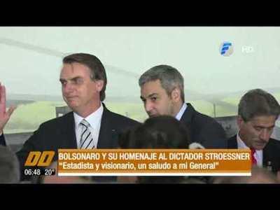 Presidente del Brasil y su homenaje a Strossner