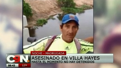 Asesinan a un hombre en Villa Hayes y familiares denuncian inacción