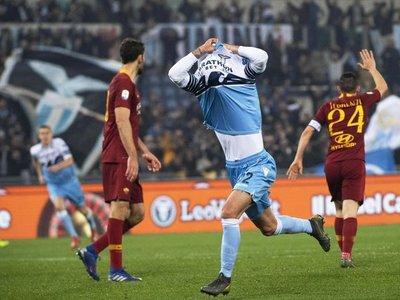 Triplete letal para que Lazio se quede con el clásico ante Roma