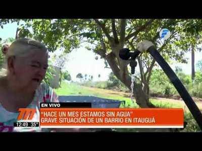 Un mes sin agua en Itaugua