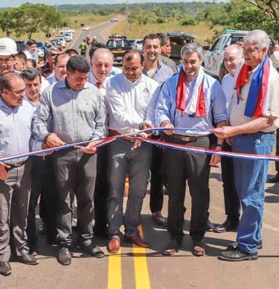 Mandatario habilita obras de infraestructura en el departamento de Caaguazú