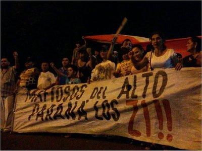 Ciudad del Este: Retornan manifestaciones en contra del clan Zacarías