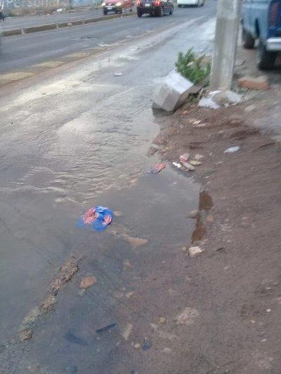 Aguas servidas en Eusebio Ayala