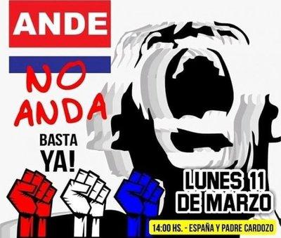 Protestarán contra la ANDE