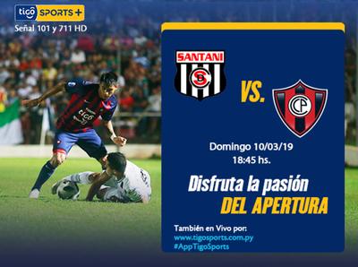 Santaní y Cerro juegan en Alto Paraná