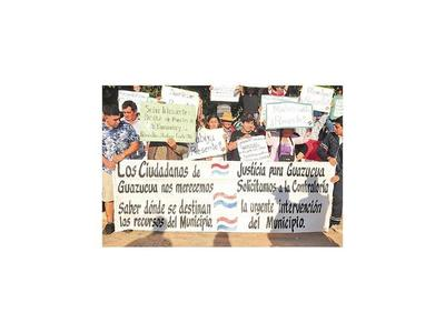 Pobladores de Guazú Cuá  exigen transparencia a intendente