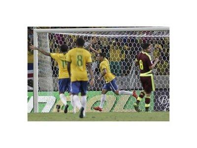 Brasil se toma un respiro con triunfo ante Venezuela