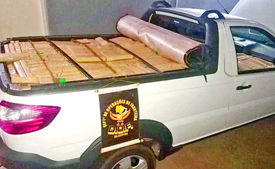 Mujer llevaba 1.000 kg de droga de Paraguay
