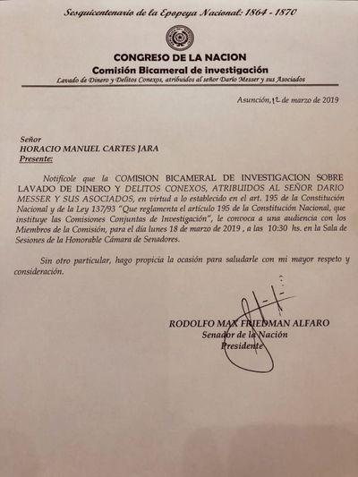 Oficializan convocatoria a ex presidente