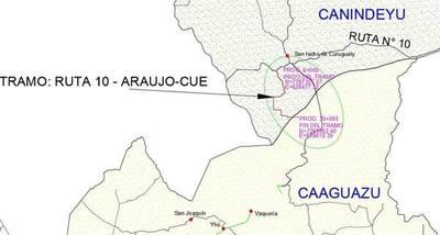 Inician pavimentación del tramo Ruta 10 – Araujo Cué en Canindeyú