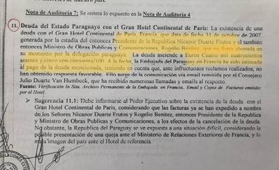 """HOY / Nicanor nos dejó hasta un """"mono""""  de 4 mil euros en un hotel de París"""