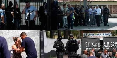Masacre en escuela de São Paulo deja 10 muertos