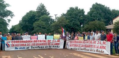 """En Mallorquín también se unen contra el """"tarifazo"""" de la ANDE y autoridades siguen ignorando pedidos"""