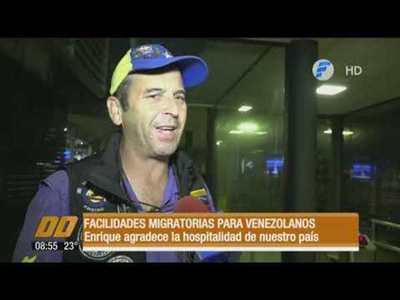 Facilidades migratorias para venezolanos.