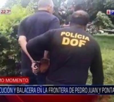 Persecución, balacera y detención en Pedro Juan