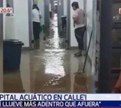 Hospital de Calle'i quedó bajo agua tras intenso temporal