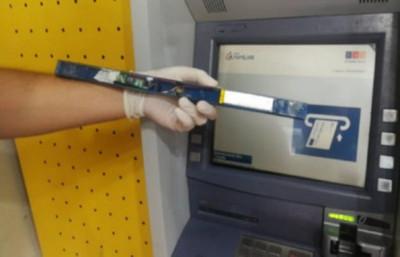 Incautan dispositivos que servían para robar datos de tarjetas