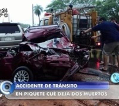 Dos fallecidos en accidente de tránsito en Limpio