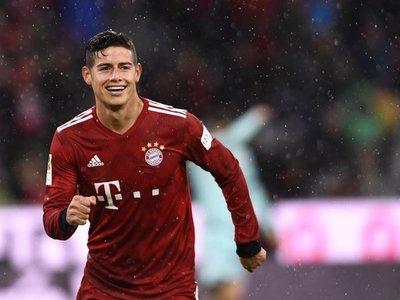 James muestra su mejor versión con el Bayern