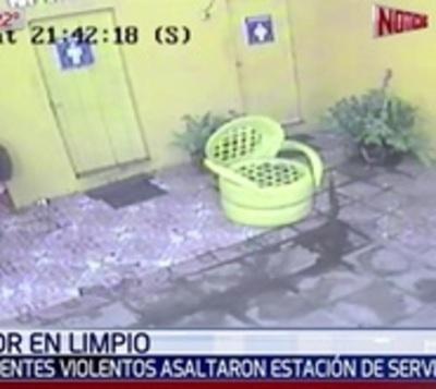 Violento asalto a estación de servicio en Limpio