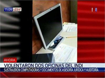 Violentaron oficinas del Indi y se llevaron computadoras