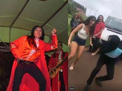 Fanática de The Fenders bailó con ellos