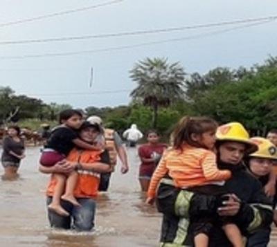 SEN con decenas de pedidos de asistencia por torrenciales lluvias