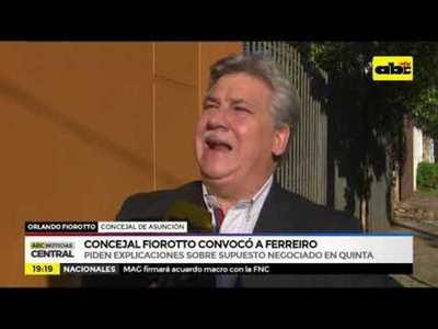 Consejal Fiorotto convocó a Ferreiro