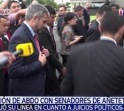 """Abdo """"no bajó línea"""" al hablar con senadores sobre juicios políticos"""