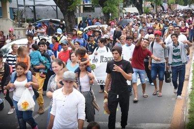 Sintechos bloquean las calles