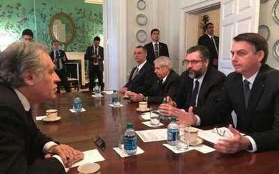 Bolsonaro y el secretario general de OEA tratan la situación de Cuba y Venezuela