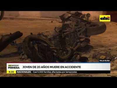 Joven de 20 años muere en accidente