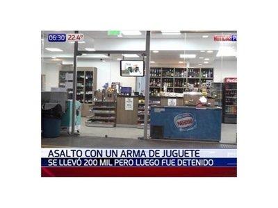 Un chico de 15 años asaltó un surtidor con una pistola de juguete