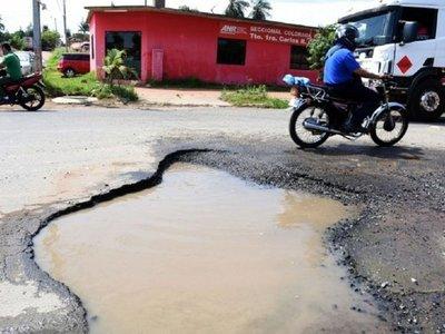 San Lorenzo necesita urgente G. 1.000 millones para reparar calles