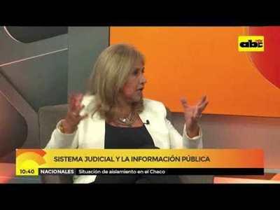 Sistema judicial y la información pública
