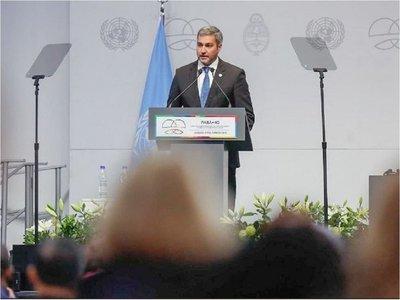"""Mario Abdo pide un """"enfoque más amplio""""  para medir el desarrollo de un país"""