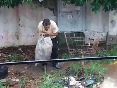 Fiscalía imputa a un hombre que arrojó residuos en un raudal en Lambaré