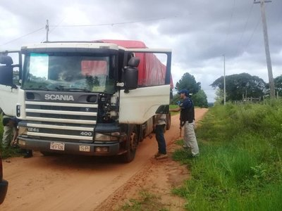 Incautan dos camiones de madera nativa extraída de reserva forestal
