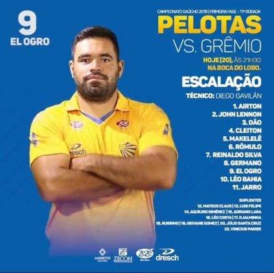 """Ogro"" Correa, en Pelotas"