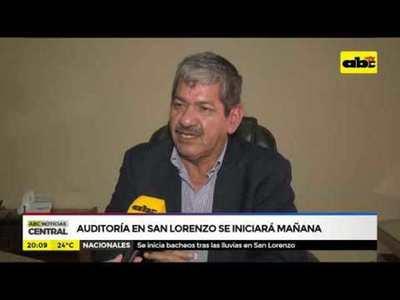 Contraloría inicia auditoria en San Lorenzo