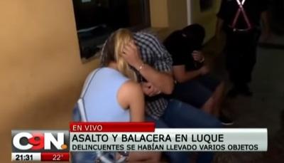 Policías frustran asalto en Luque, tras intensa balacera