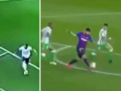 El horrible taco de Benedetto a Messi se hizo viral
